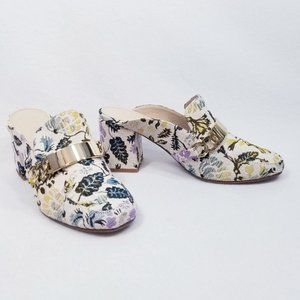 ASOS Shoes - Asos Floral Tapestry Mules with Gold Buckle Detail